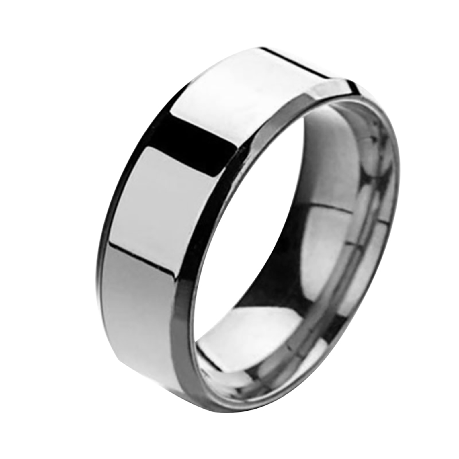 Stainless-Steel-Titanium-Ring-Men-amp-Women-Wedding-Engagement-Band-Cool-Size-6-13 thumbnail 18