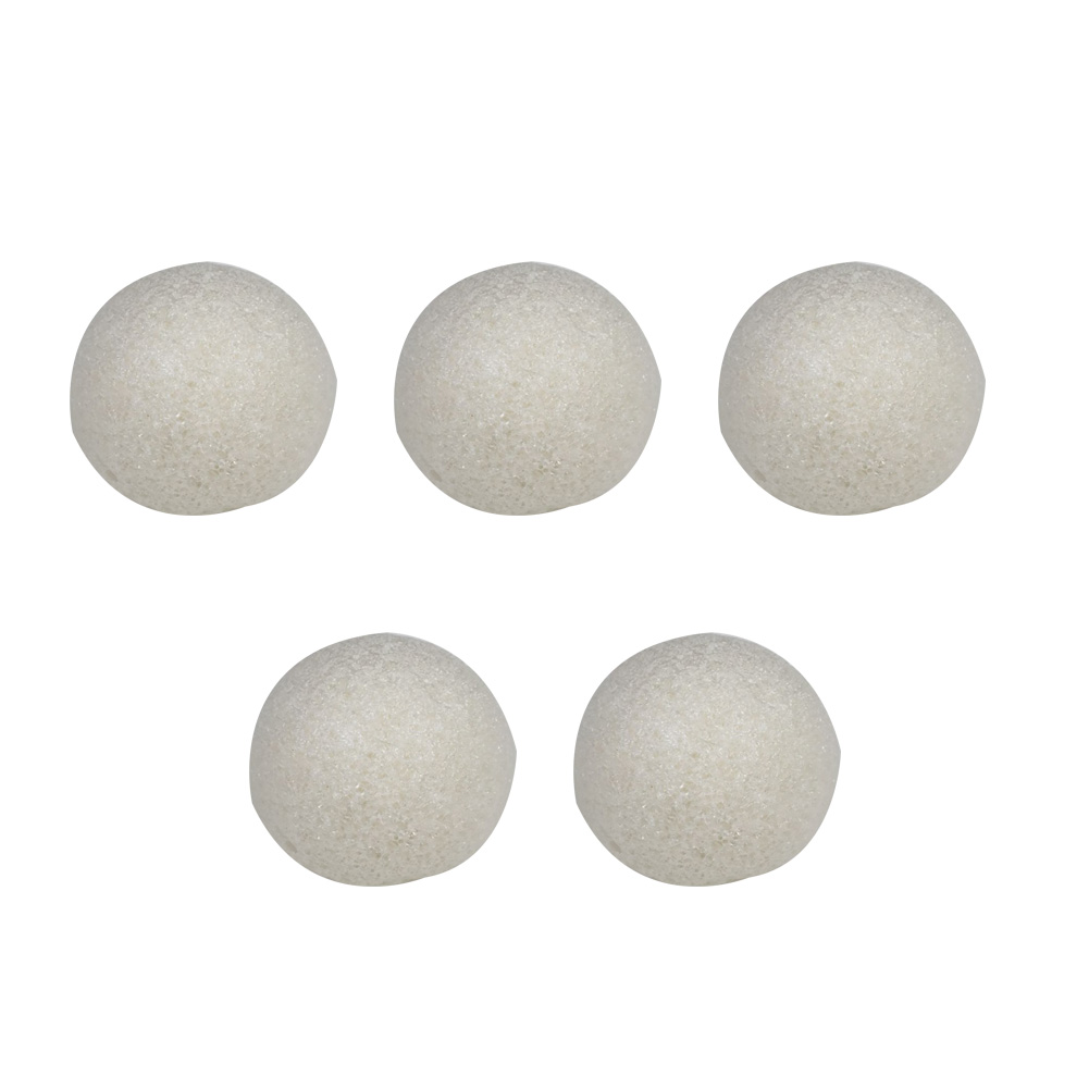 5pcs Hemisphere Puff Facial Exfoliator Sponge Washing Cleansing